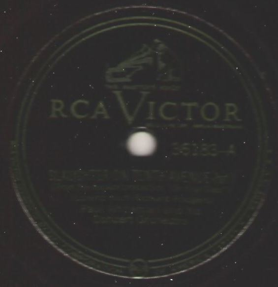 """Whiteman, Paul / Slaughter On Tenth Avenue (1949) / RCA Victor 36183 (Single, 12"""" Shellac)"""