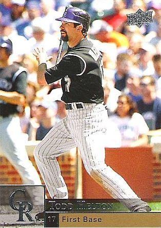 Helton Todd Colorado Rockies 2009 Upper Deck 626 Baseball Card