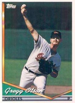 Olson Gregg Baltimore Orioles 1994 Topps 723 Baseball Card