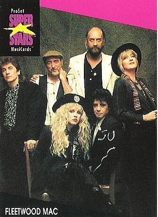 Fleetwood Mac / ProSet SuperStars MusiCards (1991) / Card #176 (Music Card)