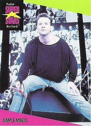 Simple Minds / ProSet SuperStars MusiCards (1991) / Card #94 (Music Card)