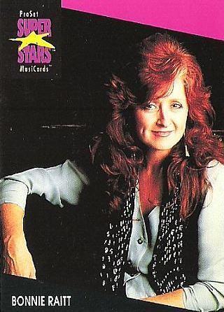 Raitt, Bonnie / ProSet SuperStars MusiCards (1991) / Card #223 (Music Card)