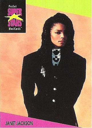 Jackson, Janet / ProSet SuperStars MusiCards #58 | Music Trading Card (1991)