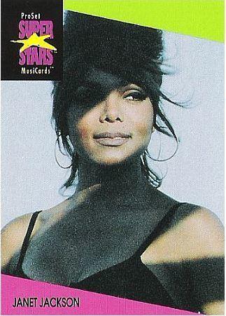 Jackson, Janet / ProSet SuperStars MusiCards (1991) / Card #60 (Music Card)