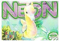 Ty Beanie Babies / Neon the Seahorse (1999) / Card #4239 / Style #212 (Trading Card) / Aquatic Answers Series