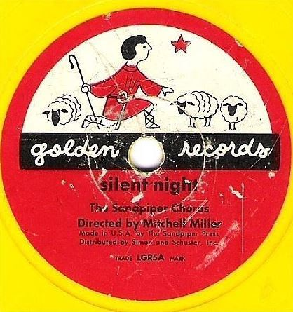 "Sandpiper Chorus, The (+ Mitch Miller) / Silent Night / Golden LGR5 (Single, 6"" Yellow Vinyl)"