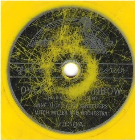 "Lloyd, Anne (+ The Sandpipers) / Over the Rainbow (Single, 6"" Yellow Vinyl)"