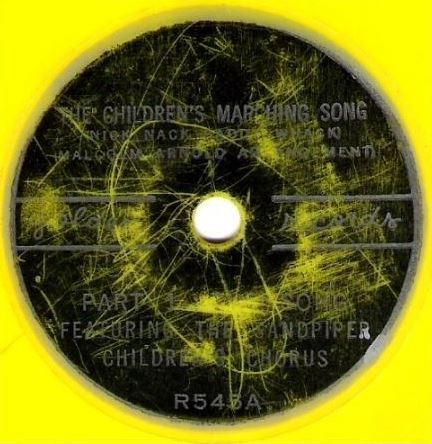 "Sandpiper Children's Chorus / The Children's Marching Song / Golden R-545 (Single, 6"" Yellow Vinyl)"