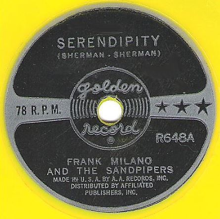 "Milano, Frank (+ The Sandpipers) / Serendipity / Golden Records R648 (Single, 6"" Vinyl)"