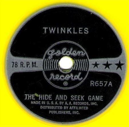 "Twinkles / The Hide and Seek Game (1960) / Golden R-657 (Single, 6"" Yellow Vinyl)"