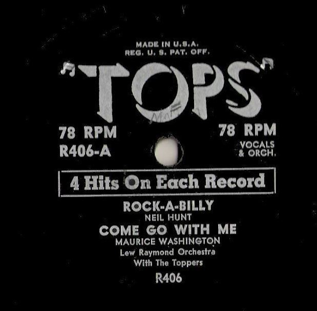 "Various Artists / Rock-A-Billy + 3 (1950's) / Tops R-406 (EP, 10"" Vinyl)"