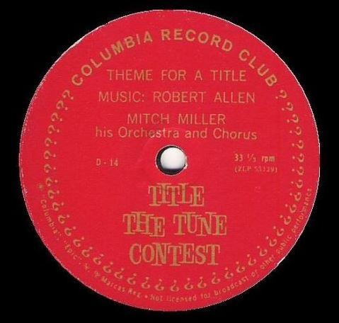 "Miller, Mitch / Theme For a Title (1961) / Columbia Record Club D-14 (EP, 7"" Vinyl)"