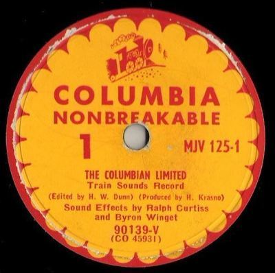 Curtiss, Ralph (+ Byron Winget) / The Columbian Limited - Train Sounds Record (1951) / Columbia MJV-125 (Single, 10