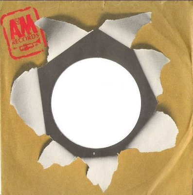 A + M / Bullet Hole - Logo at Upper Left / Brown-Gray-Black-Red (Record Company Sleeve, 7