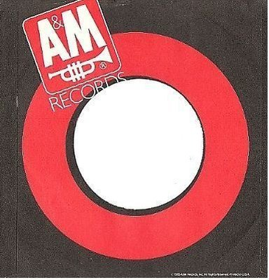A + M / Logo at Upper Left (1985) / Red-Black-White (Record Company Sleeve, 7