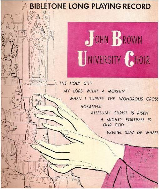 "John Brown University Choir / Cathedral Choir (1952) / Bibletone LP-0217 (Album, 10"" Vinyl)"