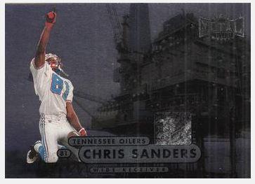 Sanders, Chris / Tennessee Oilers (1998) / Metal Universe #59 (Football Card)