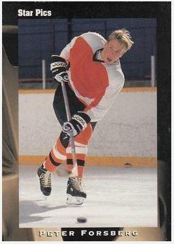 Forsberg, Peter / Philadelphia Flyers (1991) / Star Pics #35 (Hockey Card) / Draft
