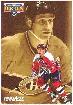 Druce, John (+ Bob Gainey) / Washington Capitols - Montreal Canadiens / Pinnacle #395 (Hockey Card) / The Idols Series (1991)