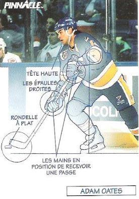 Oates, Adam / St. Louis Blues (1991-92) / Pinnacle #378 (Hockey Card) / French
