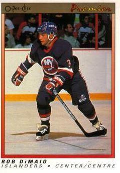 DiMaio, Rob / New York Islanders (1990-91) / O-Pee-Chee Premier #27 (Hockey Card) / Rookie