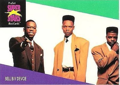 Bell Biv DeVoe / ProSet SuperStars MusiCards (1991) / Card #110 (Music Card)