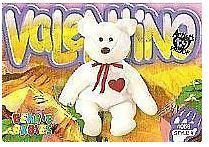 Ty Beanie Babies / Valentino the Bear (1999) / Card #4058 / Style #251 (Trading Card) / Mountain Mysteries Series