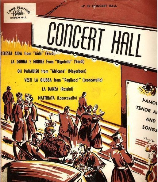 "Uncredited Artists / Concert Hall - Famous Tenor Arias and Songs (1950's) / Royale LP-55 (Album, 10"" Vinyl)"