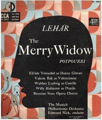 Nick, Edmund / Lehar: The Merry Widow (1952) / Decca DL-4001 (Album, 10