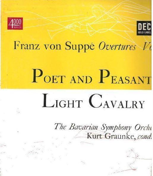 """Graunke, Kurt / Franz von Suppe Overtures Vol. 1 (1952) / Decca DL-4020 (Album, 10"""" Vinyl)"""