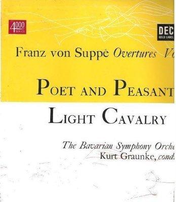 Graunke, Kurt / Franz von Suppe Overtures Vol. 1 (1952) / Decca DL-4020 (Album, 10