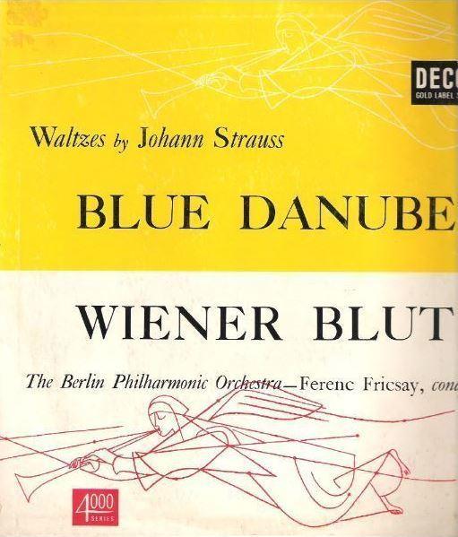 "Fricsay, Ferenc / Waltzes By Johann Strauss (1952) / Decca DL-4009 (Album, 10"" Vinyl)"
