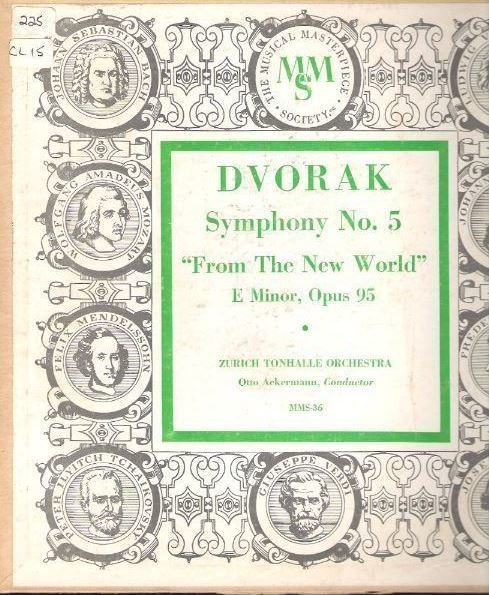 "Ackermann, Otto / Dvorak: Symphony No. 5 in E Minor, Opus 95 - ""From the New World"" / Musical Masterpiece Society MMS-36 (Album, 10"" Vinyl)"