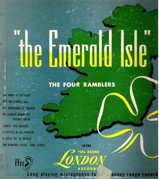 "Four Ramblers, The / The Emerald Isle (1952) / London LB.580 (Album, 10"" Vinyl)"