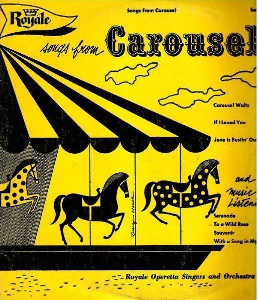 "Royale Operetta Singers and Orchestra / Songs From Carousel (1954) / Royale 1895 (Album, 10"" Vinyl)"