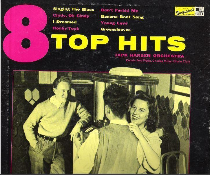 """Hansen, Jack / 8 Top Hits (1957) / Masterseal MTH-1 (Album, 10"""" Vinyl)"""