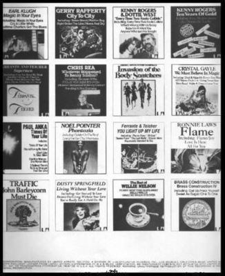 United Artists / Shows 32 Albums (1979) / White-Black (Record Company Inner Sleeve, 12