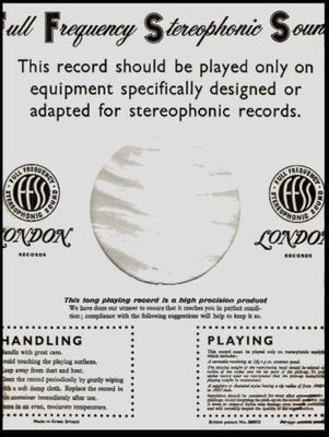 London / Full Frequency Stereophonic Sound / White-Black (Record Company Inner Sleeve, 12