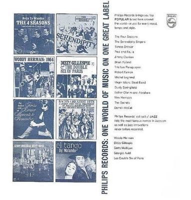 Philips / Philips Records: One World of Music On One Great Label / White-Dark Blue (Record Company Inner Sleeve, 12