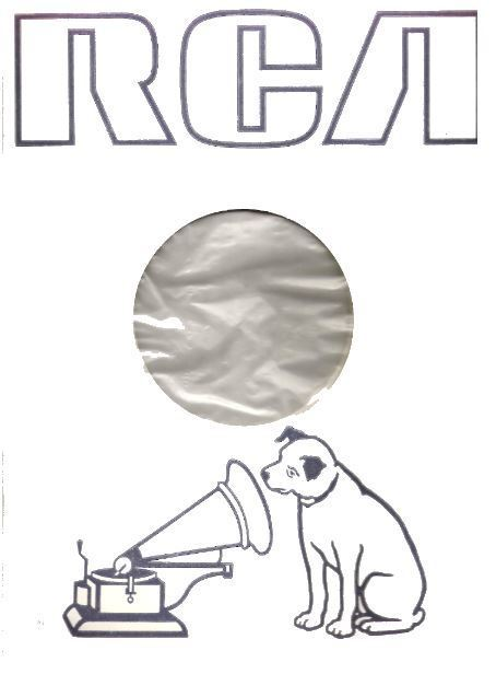 """RCA / Artwork of Nipper Dog and Phonograph (1979) / White, Dark Gray, Clear (Record Company Inner Sleeve, 12"""")"""