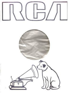 RCA / Artwork of Nipper Dog and Phonograph (1979) / White, Dark Gray, Clear (Record Company Inner Sleeve, 12