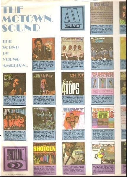 """Motown / The Motown Sound - The Sound of Young America / White with Color Pictures (Record Company Inner Sleeve, 12"""")"""