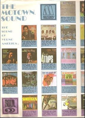 Motown / The Motown Sound - The Sound of Young America / White with Color Pictures (Record Company Inner Sleeve, 12