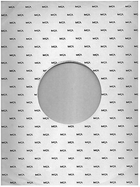 "MCA / Small MCA Logo Repeated (1972) / White with Black Print (Record Company Inner Sleeve, 12"")"