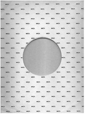 MCA / Small MCA Logo Repeated (1972) / White with Black Print (Record Company Inner Sleeve, 12