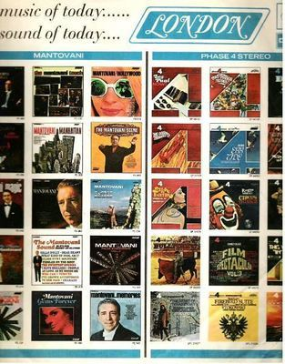 London / 36 Color Pictures of other LPs / London, Parrot and Deram Logos Shown in Blue (Record Company Inner Sleeve, 12