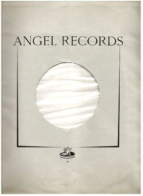 Angel / Angel Records logo / Gray with Black Print (Record Company Inner Sleeve, 12