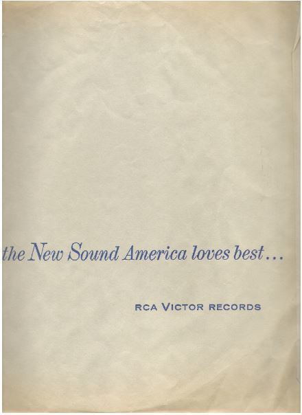 "RCA Victor / the New Sound America loves best... / Light Gray with Dark Blue Print (Record Company Inner Sleeve, 12"")"