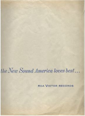 RCA Victor / the New Sound America loves best... / Light Gray with Dark Blue Print (Record Company Inner Sleeve, 12