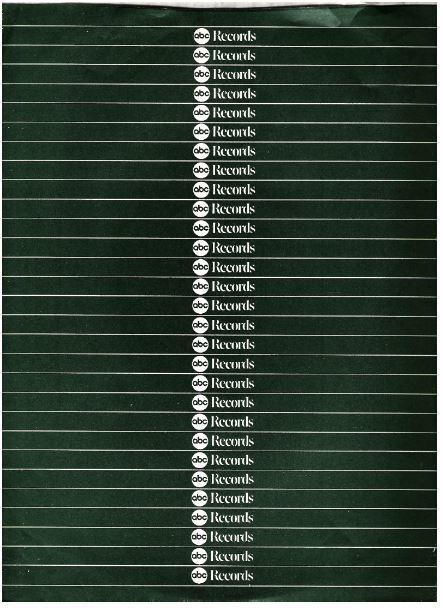 """ABC / ABC Records Logo Repeated / Dark Green with White Horizontal Lines (Record Company Inner Sleeve, 12"""")"""